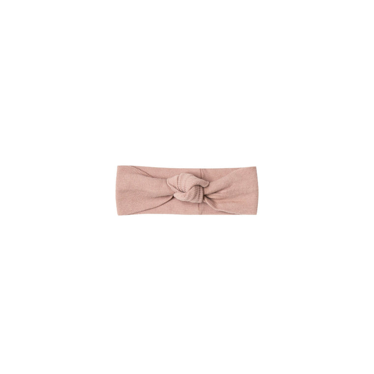 QUINCY MAE Ribbed Baby Turban - Rose (Pre-Order Mid November Delivery)