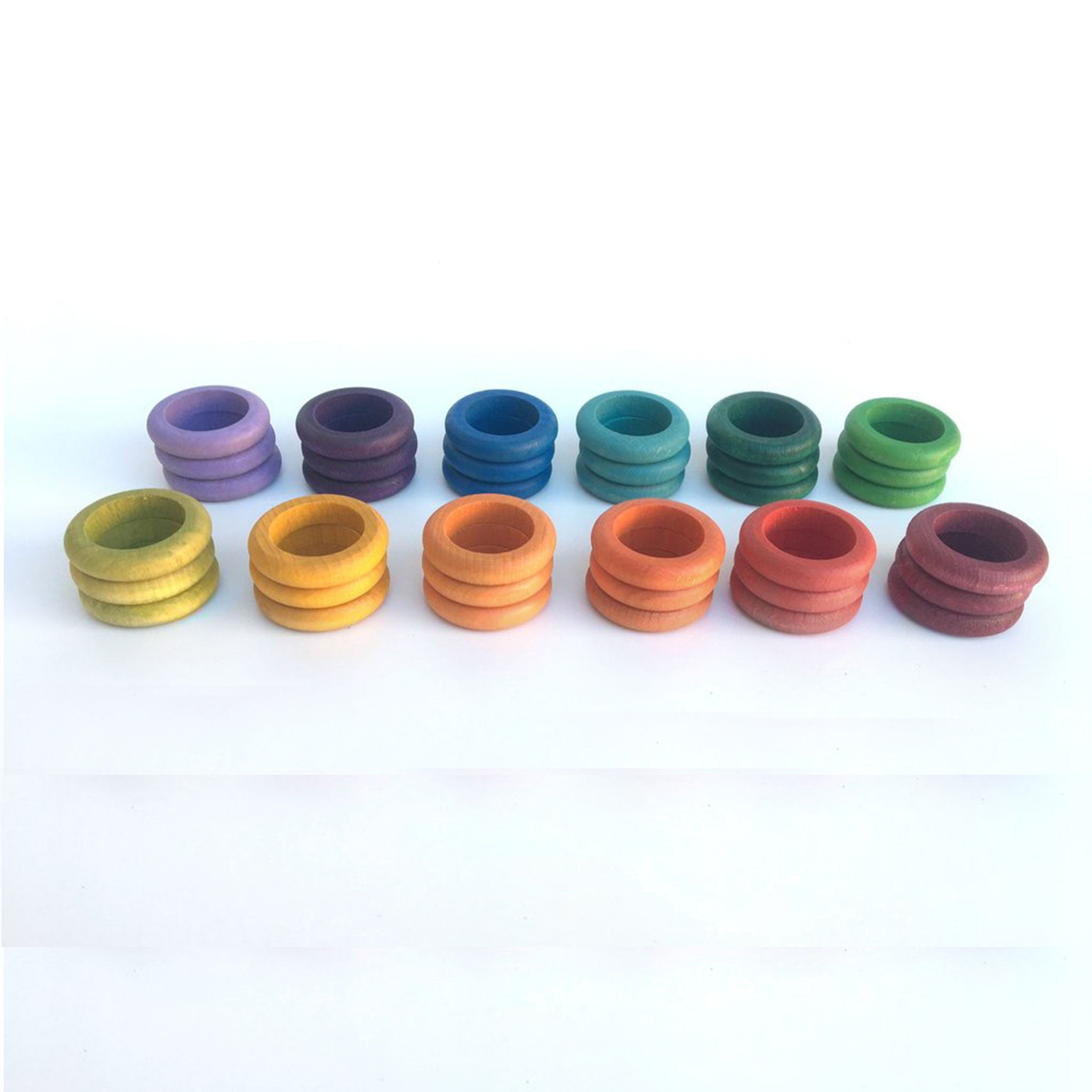 GRAPAT | Coloured Rings | 36 Rings in 12 Colours