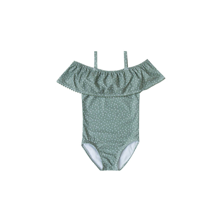 RYLEE + CRU Seeds Off The Shoulder Swimsuit - Rainforest
