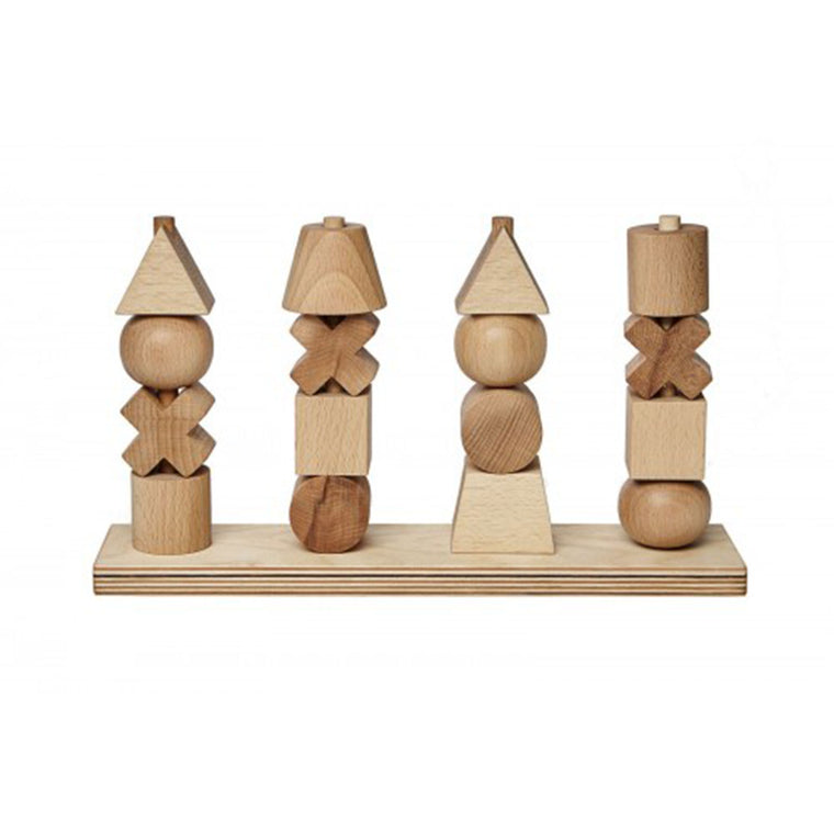 WOODEN STORY Stacking Toy Natural XL