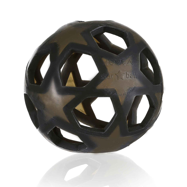 HEVEA Natural Rubber Star Ball Charcol
