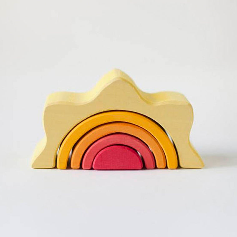 RADUGA GRËZ  | Wooden Sun Stacker Small | Coloured