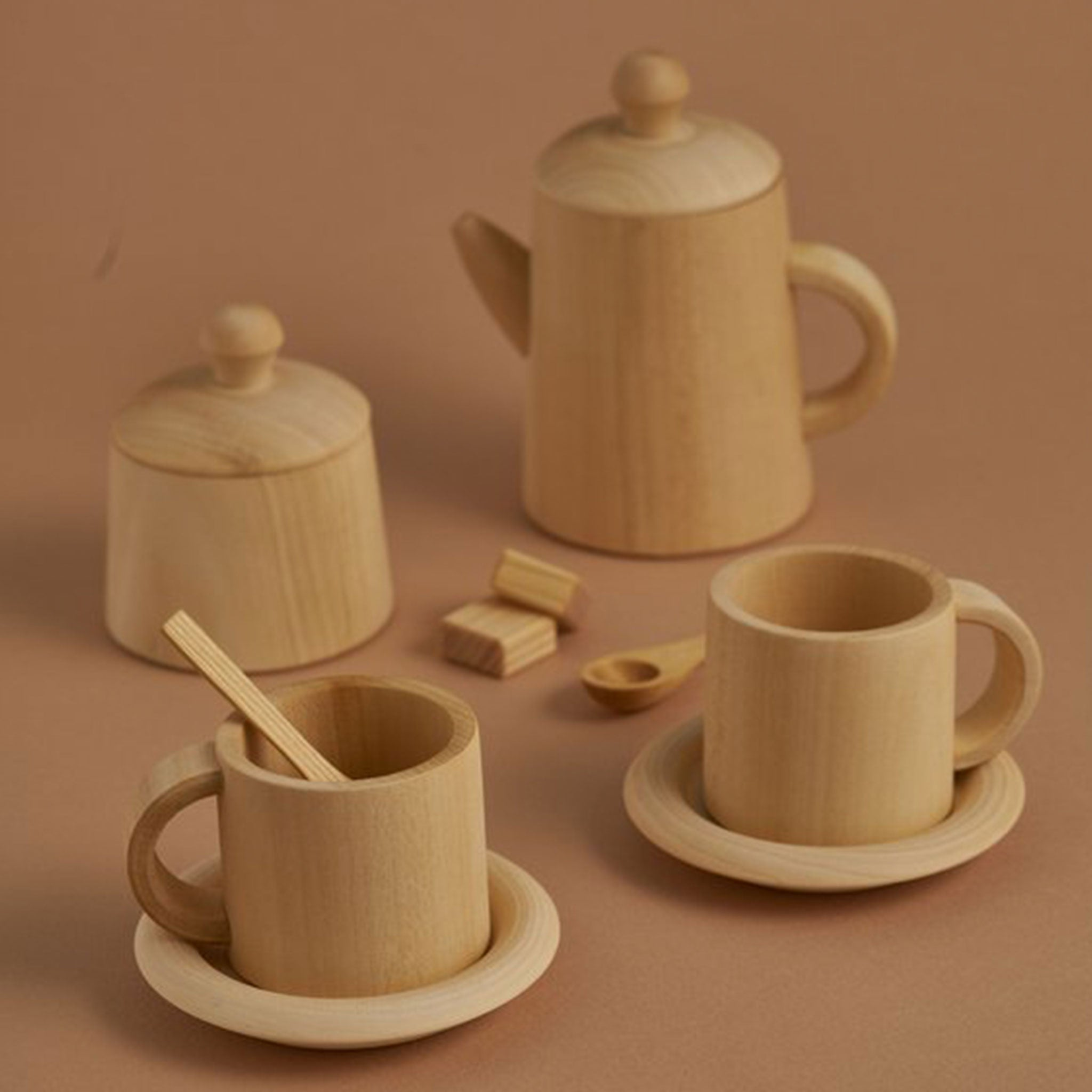 RADUGA GRËZ  | Wooden Tea Set | Natural