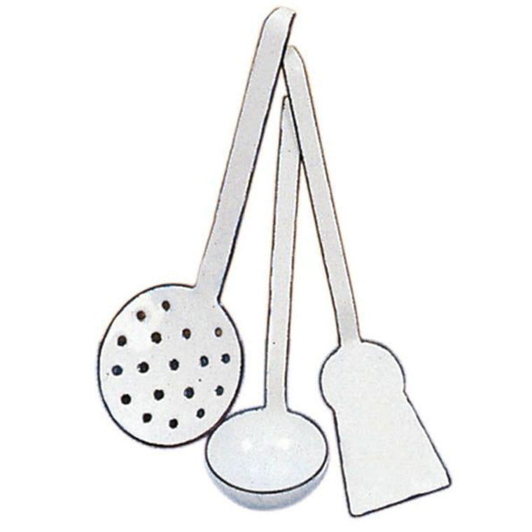 GLUCKSKAFER | Enamel Cooking Set | Three Utensils