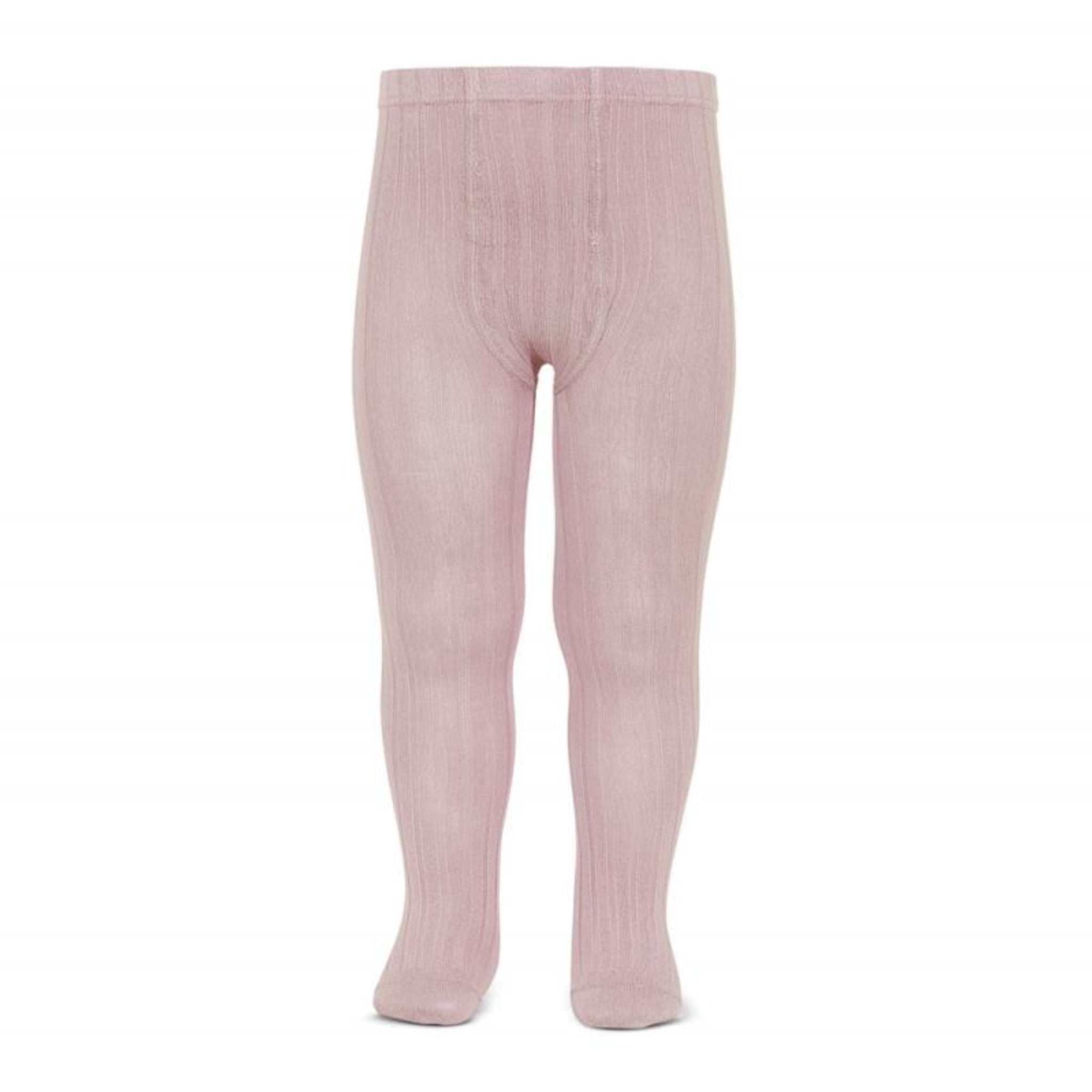 CONDOR | Ribbed Cotton Tights | Rosa Palo (#526)