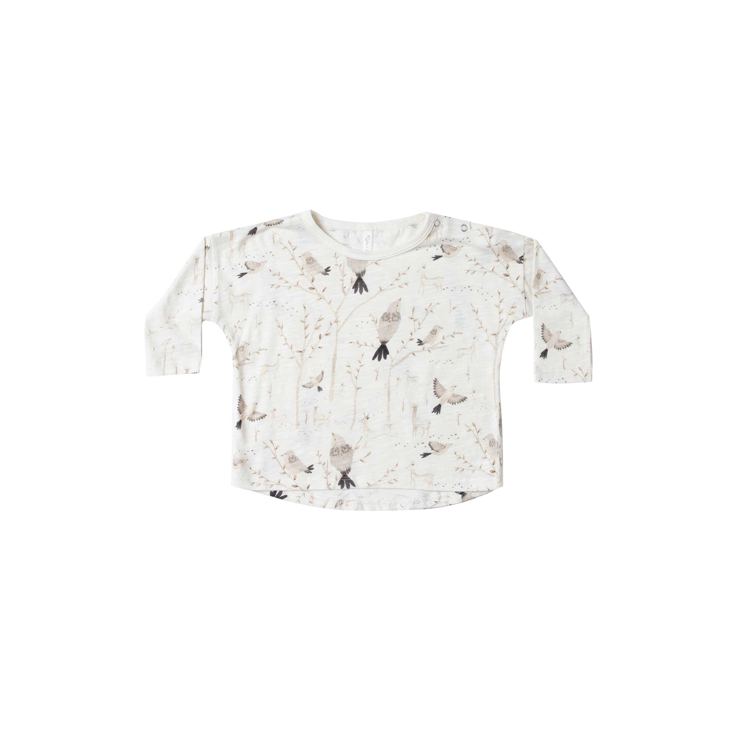 RYLEE + CRU | SNOWBIRD | Winter Birds Long sleeve Tee | Ivory