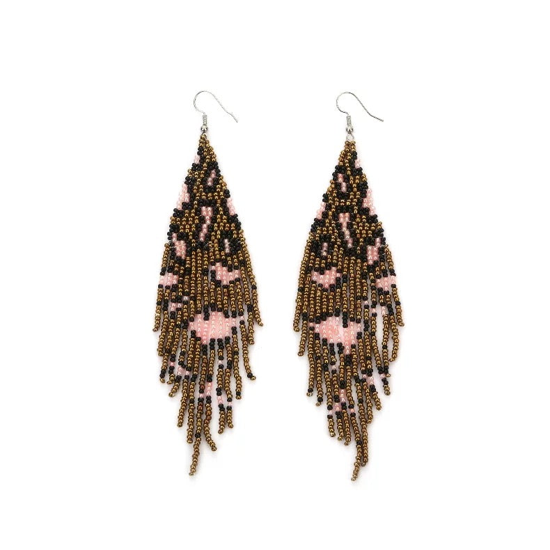 Gold Polka Dot Moccasins - White