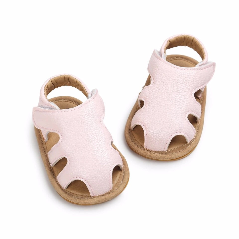 Cut Out Sandals - Rose Gold , Lolly Pink, Soft Pink