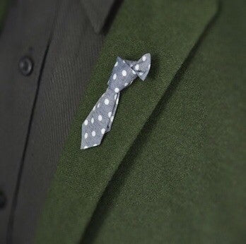 Men's Tie Lapel Pins - Polka Dots