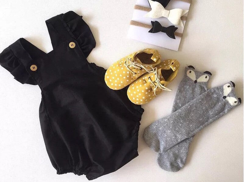 Baby Girl's First Little Black Romper