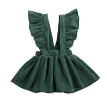 Cord Ruffle Sleeve Pinafore Dress