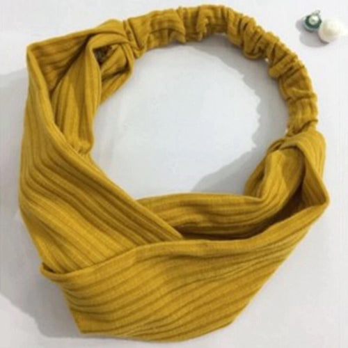 Women's Cotton Knot Elastic Headband