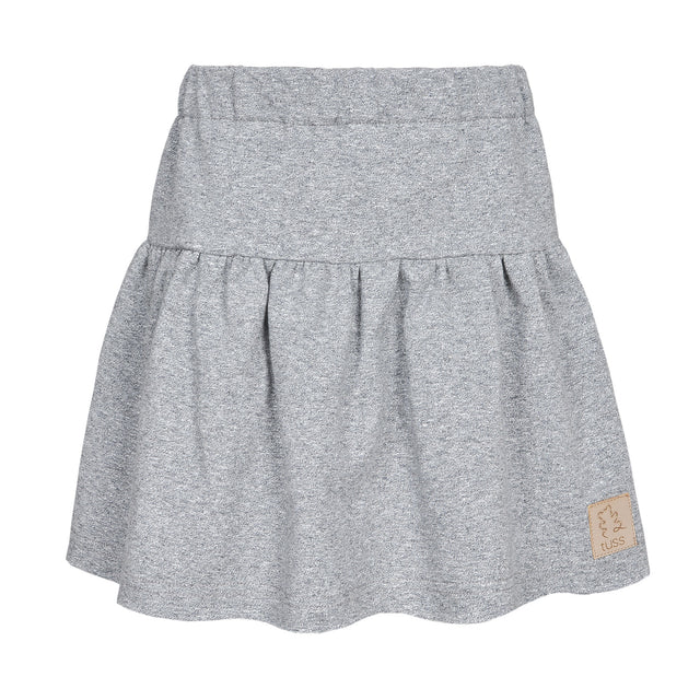 Grey mélange skirt