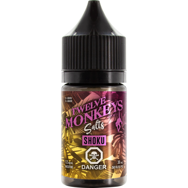 Twelve Monkeys Salts Shoku - Fraser 420 Smoke Shop - Surrey, BC -  - Fraser 420 - Glass & Gifts, Bongs, Vaporizers, Vape, Green Leaf Hemp & Blunts