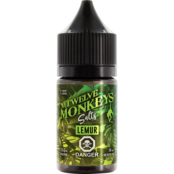 Twelve Monkeys Salts Lemur - Fraser 420 Smoke Shop - Surrey, BC -  - Fraser 420 - Glass & Gifts, Bongs, Vaporizers, Vape, Green Leaf Hemp & Blunts