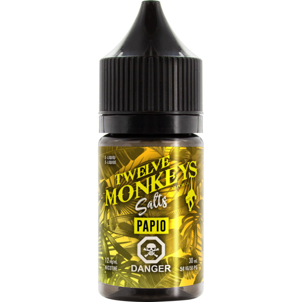 Twelve Monkeys Salts Papio - Fraser 420 Smoke Shop - Surrey, BC -  - Fraser 420 - Glass & Gifts, Bongs, Vaporizers, Vape, Green Leaf Hemp & Blunts