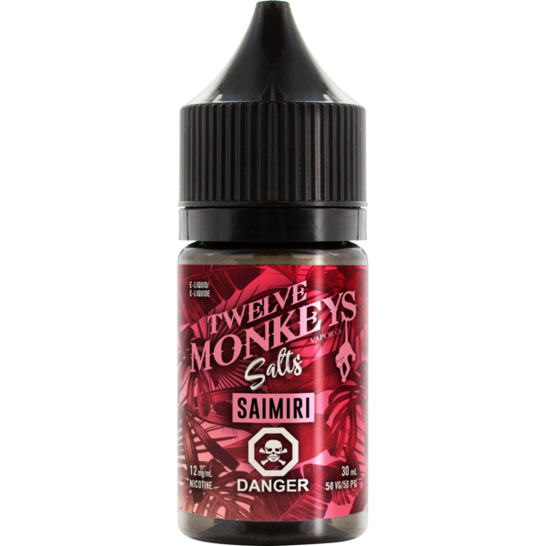 Twelve Monkeys Salts Saimiri - Fraser 420 Smoke Shop - Surrey, BC -  - Fraser 420 - Glass & Gifts, Bongs, Vaporizers, Vape, Green Leaf Hemp & Blunts