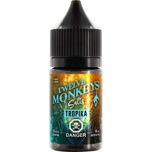 Twelve Monkeys Salts Tropika - Fraser 420 Smoke Shop - Surrey, BC -  - Fraser 420 - Glass & Gifts, Bongs, Vaporizers, Vape, Green Leaf Hemp & Blunts
