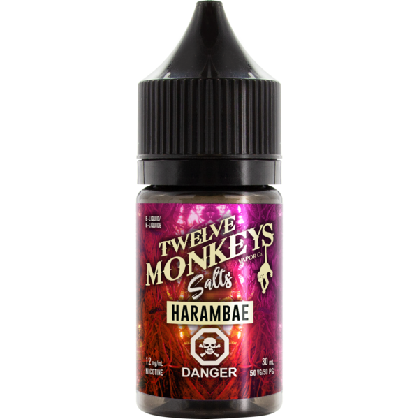 Twelve Monkeys Salts Harambae - Fraser 420 Smoke Shop - Surrey, BC -  - Fraser 420 - Glass & Gifts, Bongs, Vaporizers, Vape, Green Leaf Hemp & Blunts