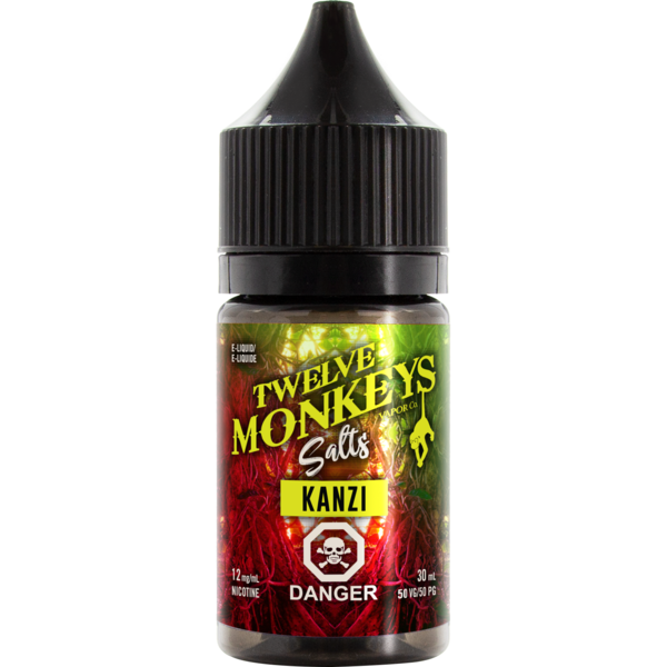 Twelve Monkeys Salts Kanzi - Fraser 420 Smoke Shop - Surrey, BC -  - Fraser 420 - Glass & Gifts, Bongs, Vaporizers, Vape, Green Leaf Hemp & Blunts