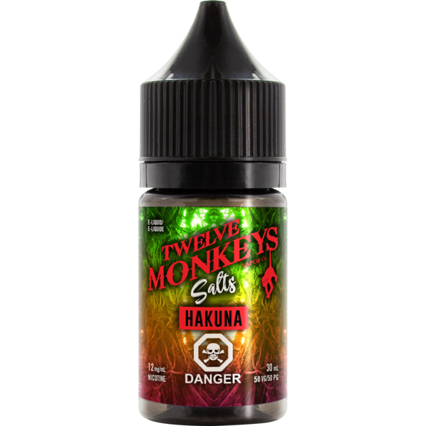 Twelve Monkeys Salts Hakuna - Fraser 420 Smoke Shop - Surrey, BC -  - Fraser 420 - Glass & Gifts, Bongs, Vaporizers, Vape, Green Leaf Hemp & Blunts