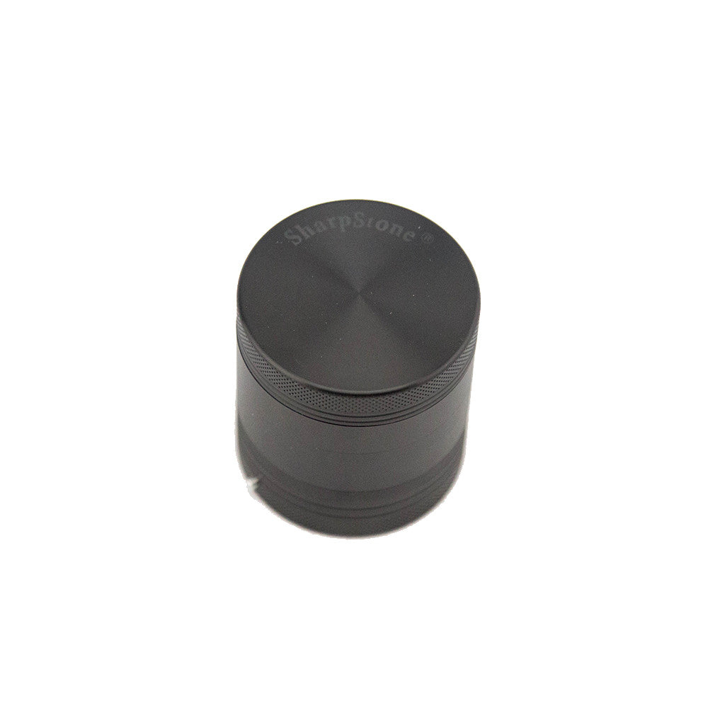"SharpStone® Hard Top 4 Piece Vibrating Grinder - 2.2"" Black - Fraser 420 Smoke Shop - Surrey, BC - Grinders - Fraser Stop n Go - Glass & Gifts, Bongs, Vaporizers, Vape, Green Leaf Hemp & Blunts"