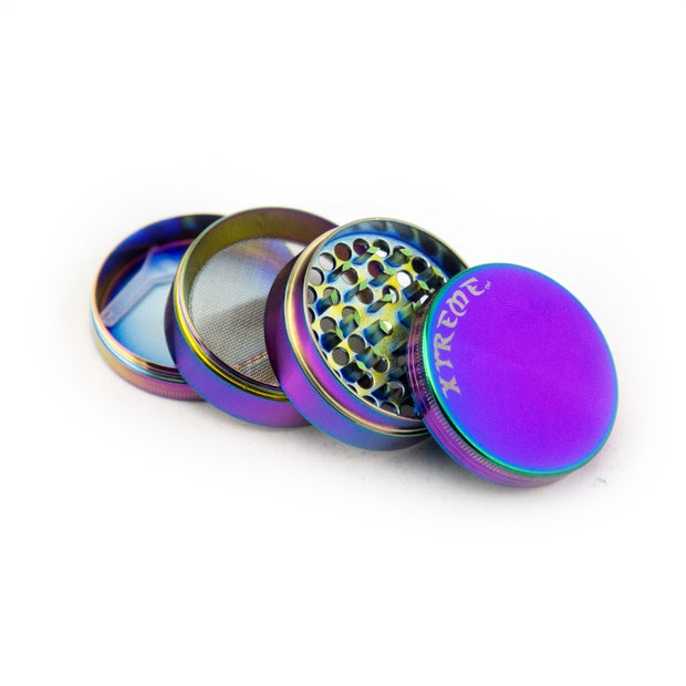 Xtreme 4pc Rainbow Herb Grinder - Fraser 420 Smoke Shop - Surrey, BC - Grinders - Fraser Stop n Go - Glass & Gifts, Bongs, Vaporizers, Vape, Green Leaf Hemp & Blunts