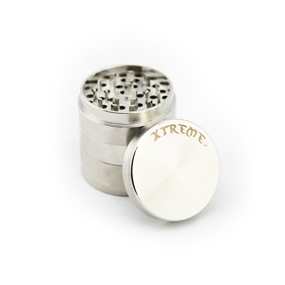 Xtreme 5pc Herb Grinder - Silver - Fraser 420 Smoke Shop - Surrey, BC - Grinders - Fraser Stop n Go - Glass & Gifts, Bongs, Vaporizers, Vape, Green Leaf Hemp & Blunts