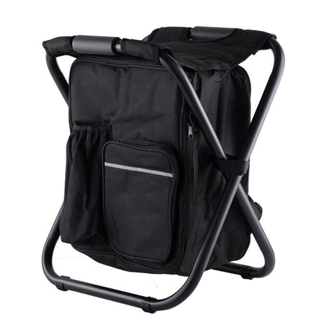 Image of black cooler chair backpack