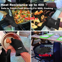 Load image into Gallery viewer, Five Finger Silicone Oven Mitts