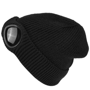 Ski Cap with Built in Sunglasses