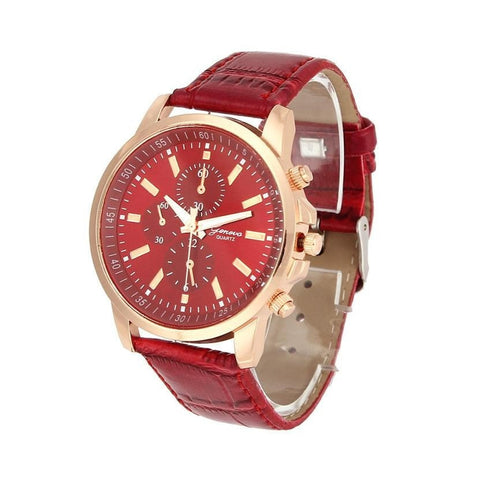 Casual Men Geneva PU Leather watch free shipping