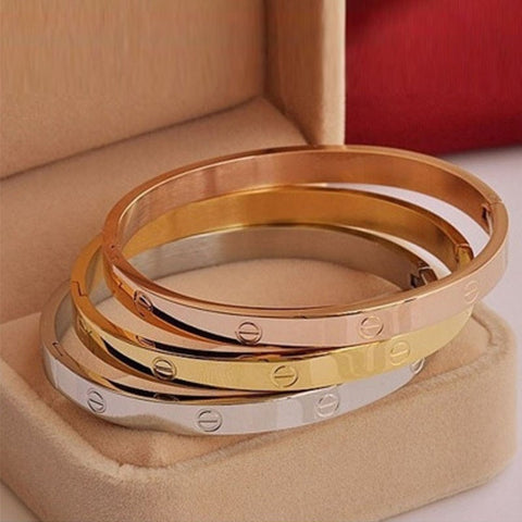 Trendy Gold Silver Bangles for Women free shipping