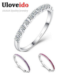 Purple Charms Wedding Rings for Women free shipping