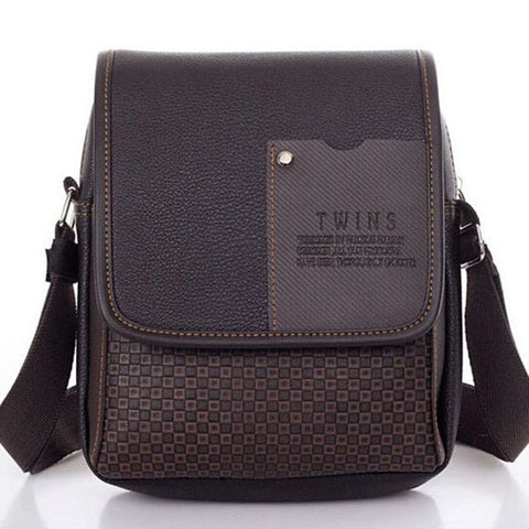 PU Leather Fashion Men Business crossbody shoulder Bags free shipping