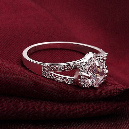 Crystal Clear Shaped Ring free shipping