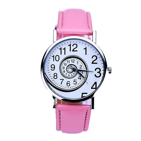 Leather Sports Clock Lady Wrist Watch For Women free shipping