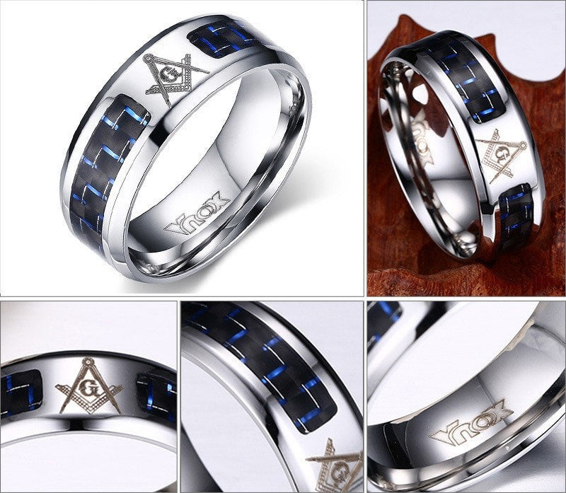Stainless Steel Wedding Band for Men Free Shipping