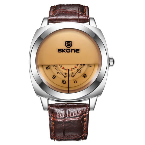 SKONE Special design Leather Wristwatches for Men & Women Brand free shipping