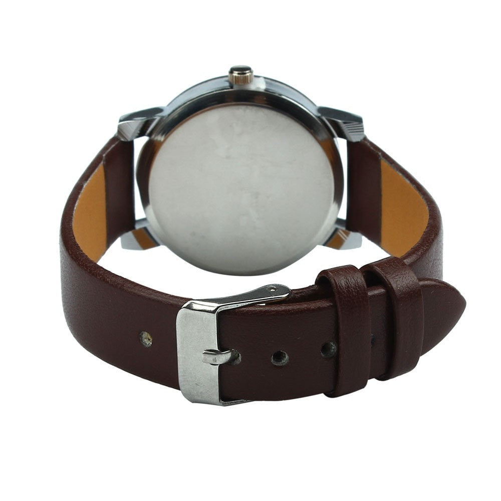 Bayan PU Leather Strap Watch