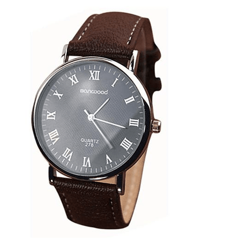 New Men's Leather Band Luxury Watch free shipping