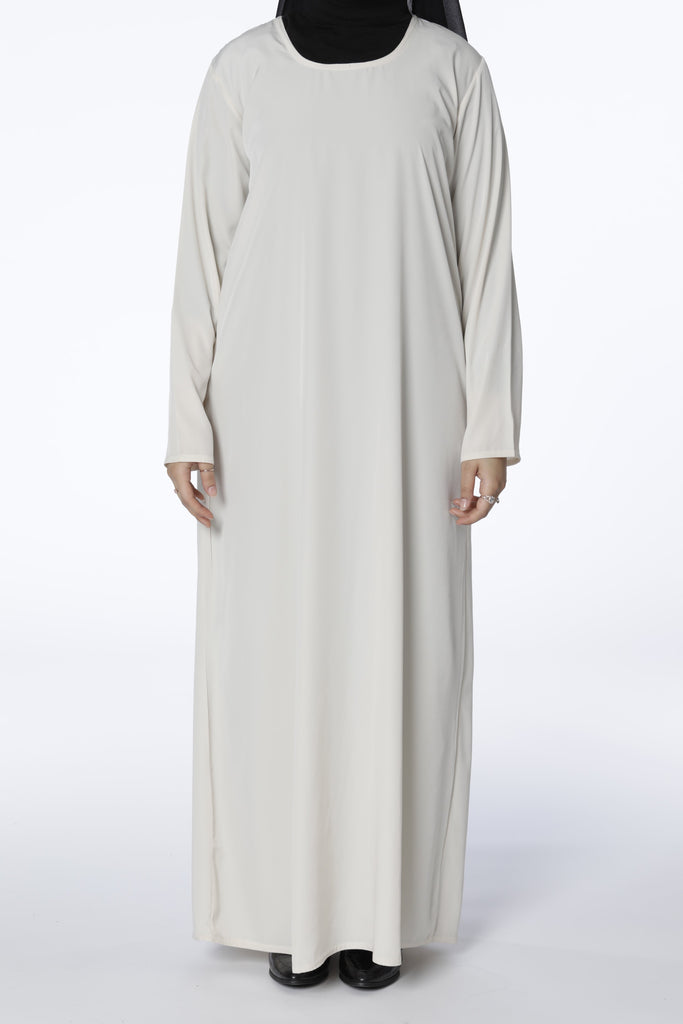 Cream/Off White - Closed Abaya - Arman Hussain Studio