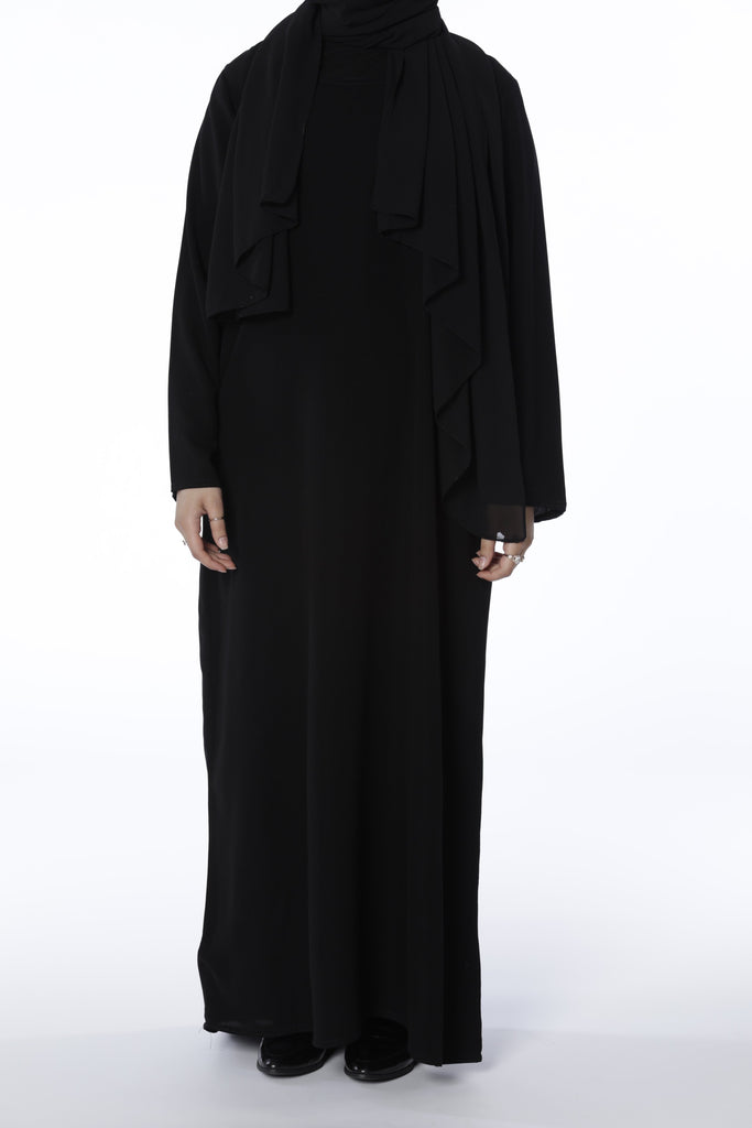 Black - Closed Abaya - Arman Hussain Studio