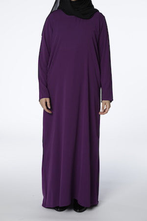 Purple - Closed Abaya