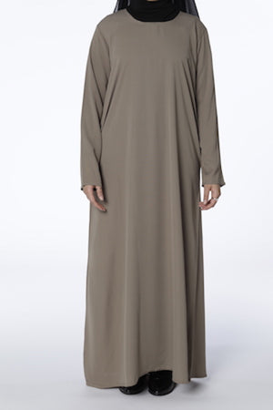 Nude - Closed Abaya