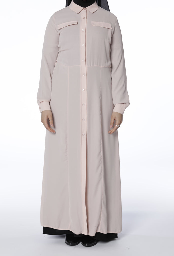 Dusty Pink Maxi Shirt