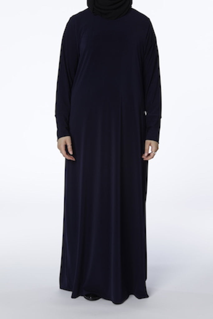 Navy - Closed Abaya - Arman Hussain Studio