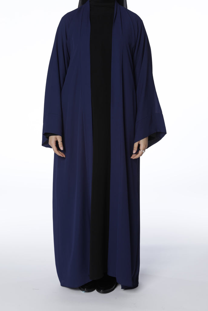Navy Blue Open Abaya
