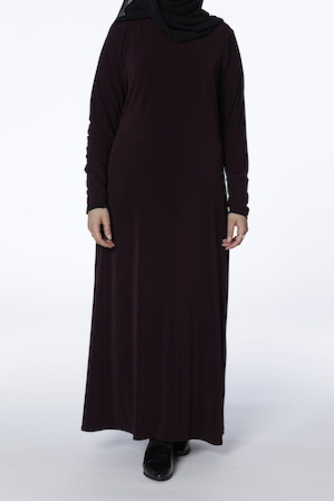 Burgundy - Closed Abaya - Arman Hussain Studio