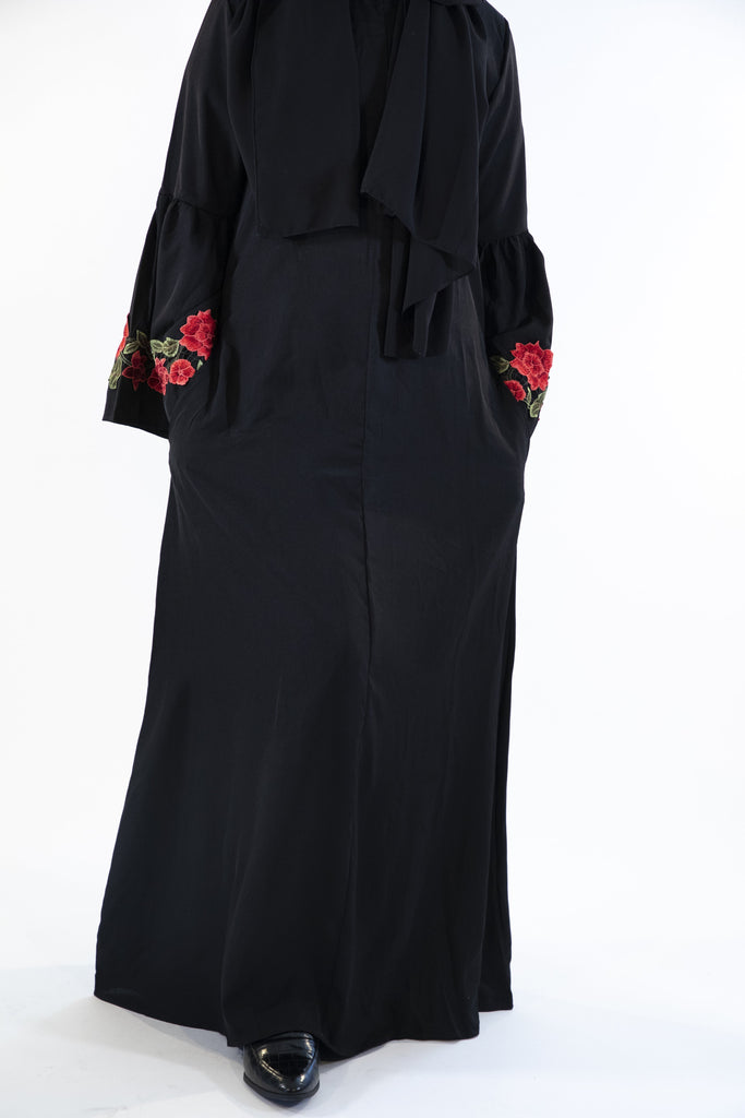 Black - Floral Dress - Arman Hussain Studio